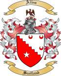 Allen Family Crest from Scotland
