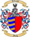 Alleotti Family Coat of Arms from Itlay