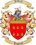 Allferd Family Crest from England