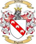 Allfield Family Coat of Arms from England