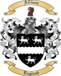 Allison Family Crest from England