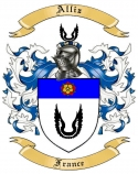 Alliz Family Crest from France