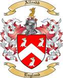 Allredd Family Coat of Arms from England