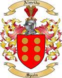Almeido Family Crest from Spain