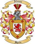 Alonso Family Coat of Arms from Spain