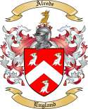 Alrede Family Coat of Arms from England
