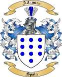 Altamira Family Coat of Arms from Spain