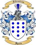 Altamiros Family Coat of Arms from Spain