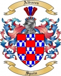 Alvares Family Crest from Spain