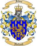 Alves Family Crest from Holland
