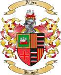 Alves Family Crest from Portugal