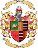 Alves Family Crest from Spain