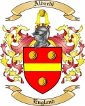 Alvredi Family Coat of Arms from England