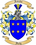 Amado Family Crest from Italy2