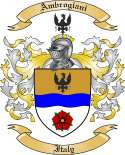 Ambrogiani Family Coat of Arms from Italy
