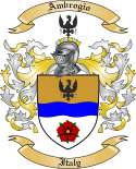 Ambrogio Family Crest from Italy