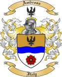 Ambrosa Family Crest from Italy