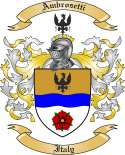 Ambrosetti Family Crest from Italy