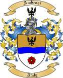 Ambrosi Family Coat of Arms from Italy