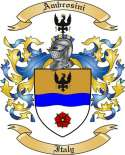 Ambrosini Family Coat of Arms from Italy