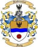 Ambrosini Family Crest from Italy