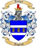 Amiger Family Crest from England