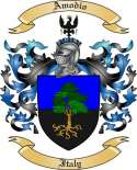 Amodio Family Crest from Italy