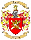 Amon Family Crest from England