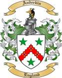 Anderkin Family Coat of Arms from England