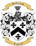 Anderson Family Coat of Arms from England