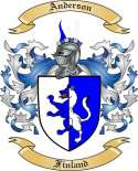 Anderson Family Coat of Arms from Finland