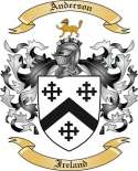 Anderson Family Coat of Arms from Ireland