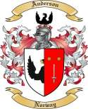 Anderson Family Coat of Arms from Norway
