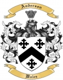 Anderson Family Coat of Arms from Wales