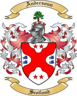 Andersoun Family Crest from Scotland