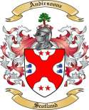 Andirsoone Family Crest from Scotland