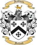 Andison Family Coat of Arms from Ireland
