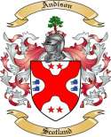 Andison Family Coat of Arms from Scotland