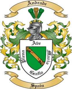 Andrade Family Coat of Arms from Spain