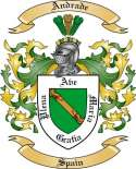 Andrade Family Crest from Spain