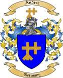 Andres Family Coat of Arms from Germany