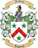 Andreu Family Coat of Arms from England