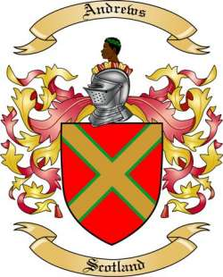 andrews family crest from scotland2 by the tree maker