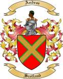 Androe Family Coat of Arms from Scotland