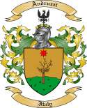 Andruzzi Family Crest from Italy