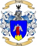 Angela Family Crest from Italy