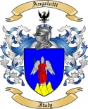 Angelotti Family Crest from Italy