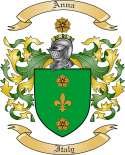 Anna Family Crest from Italy