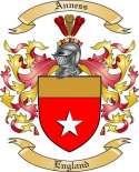 Anness Family Crest from England