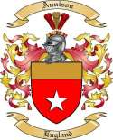 Annison Family Coat of Arms from England
